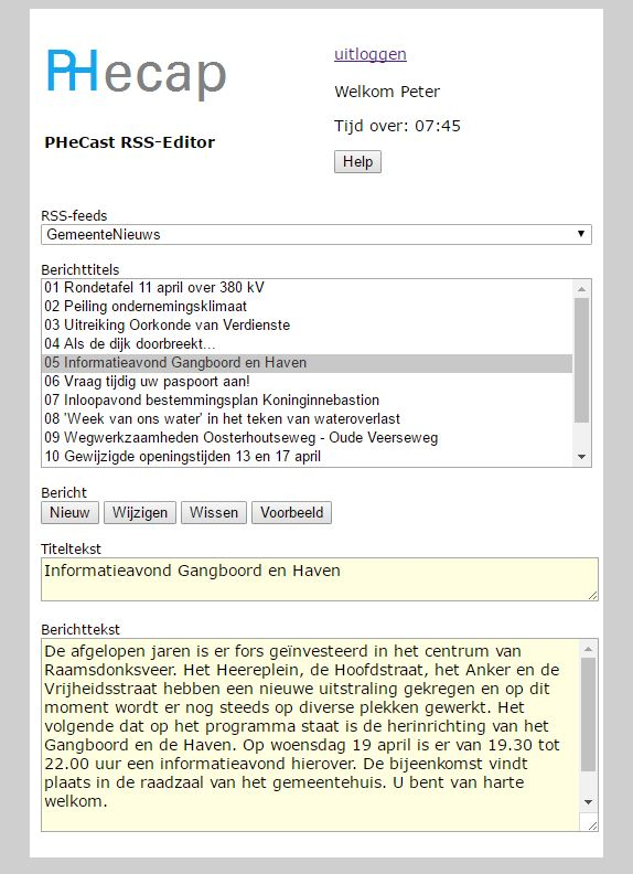RSS-editor
